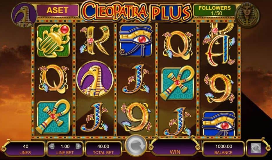 Símbolos, gráficos, sons e animações de Cleopatra Plus
