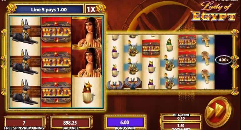 rodadas bónus e giros grátis en Lady of Egypt