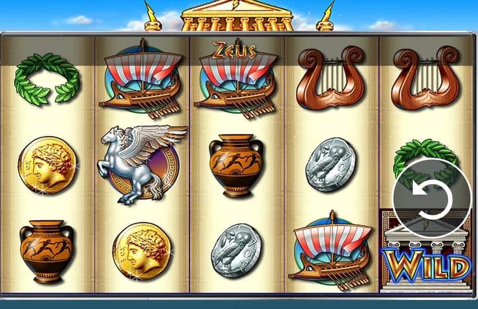 Símbolos, gráficos, sons e animações de Zeus