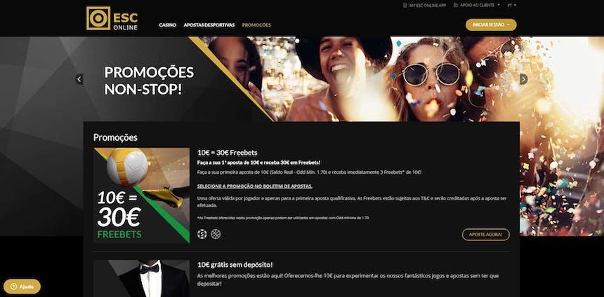 O ESC online oferece aos seus jogadores diversos bónus e promoções.