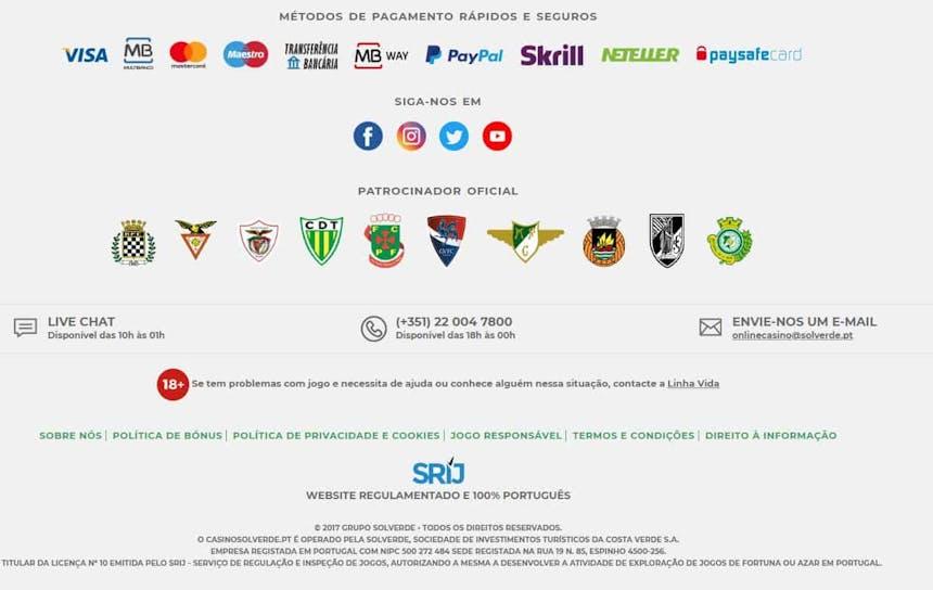 A variedade e a segurança dos métodos de pagamento no Casino Solverde