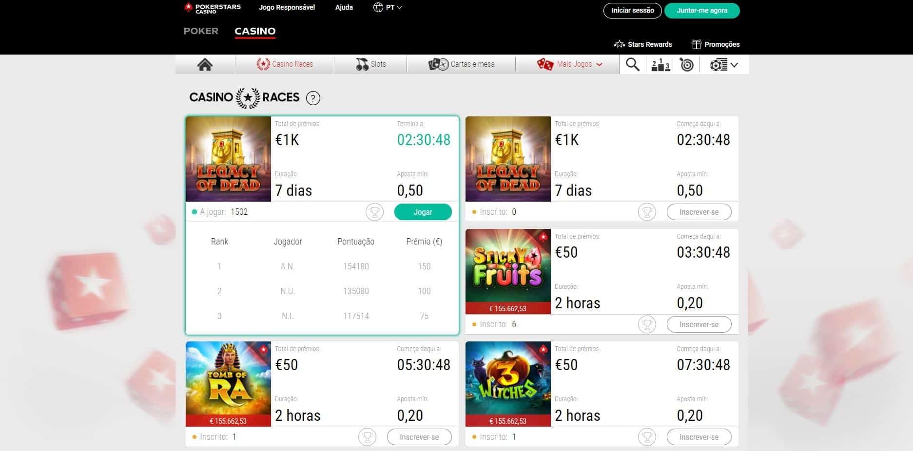 Melhores Jogos de Slot Machines Online em PokerStars