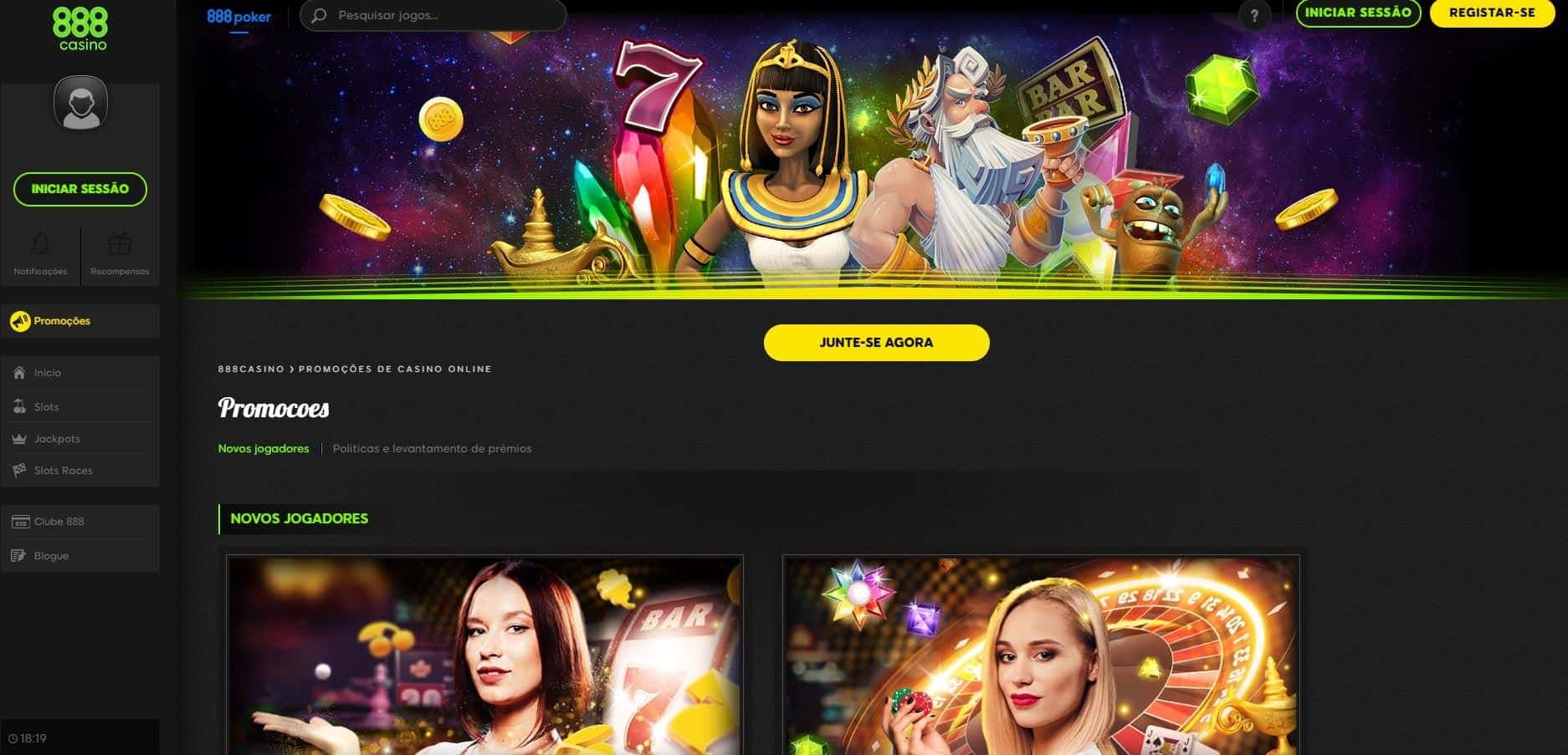 O 888 Casino oferece aos seus jogadores diversos bónus e promoções