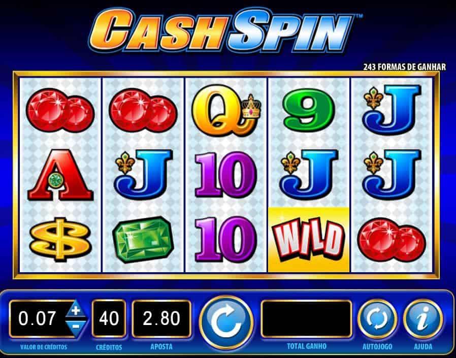 Símbolos, gráficos, sons e animações de Cash Spin