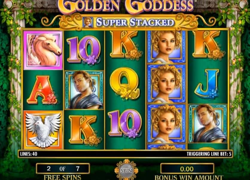 rodadas bónus e giros grátis en Golden Goddess