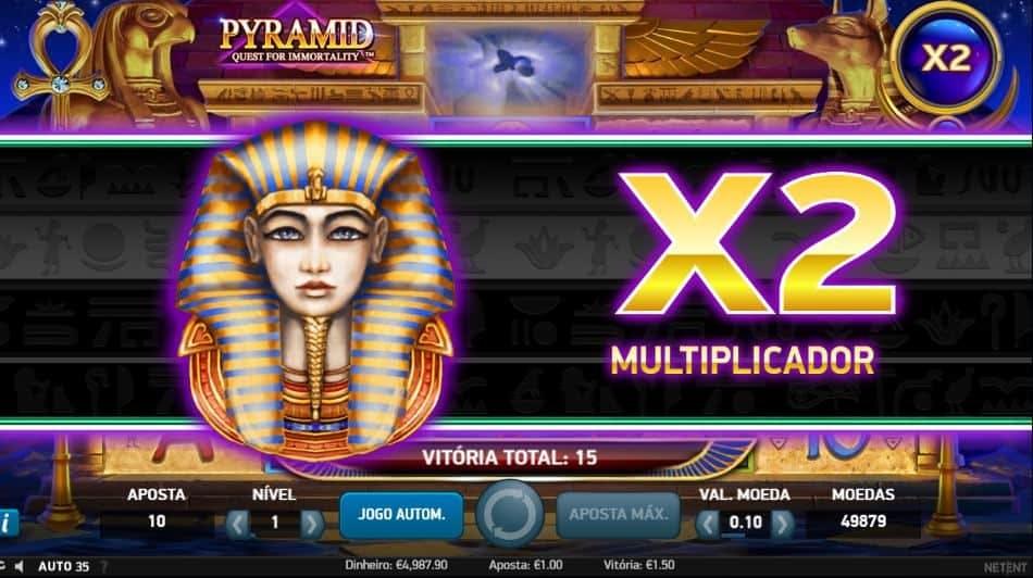 rodadas bónus e giros grátis en Pyramid: Quest for Immortality