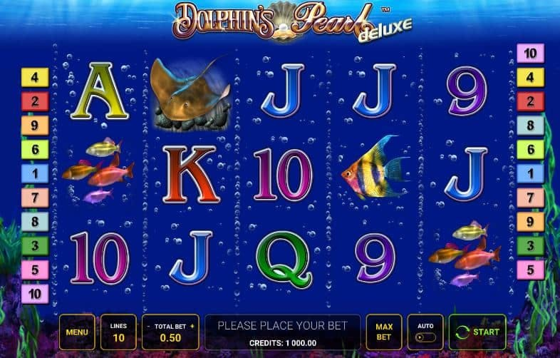 Símbolos, gráficos, sons e animações de Dolphins Pearl Deluxe
