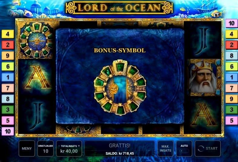 rodadas bónus e giros grátis en Lord of the Ocean