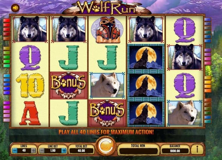 Símbolos, gráficos, sons e animações de Wolf Run